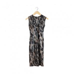 Black Embellished Sleeveless Midi Dress