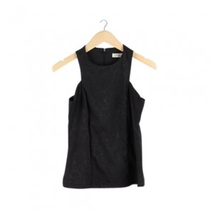 Black Pattern Sleeveless Top