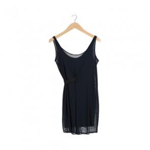 Navy Tulle Mini Dress