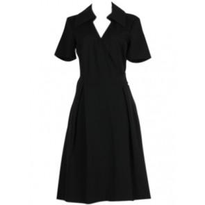 Black Coat Midi Dress