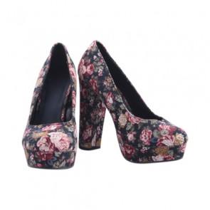 Forever 21 Flower Platform Heels