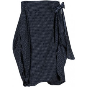 Black Polkadot Twisted Pants
