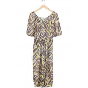 Yellow Brown Printed Jumpsuit