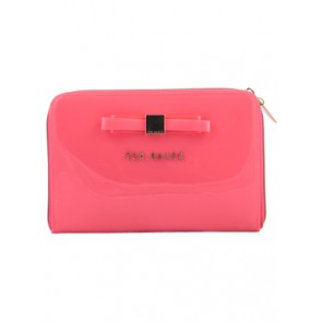 Ted Baker Pink Slim Bow Clutch
