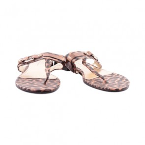 Charles and Keith Leopard Flat Sandals