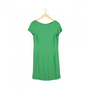 Green Cape Sleeve Midi Dress