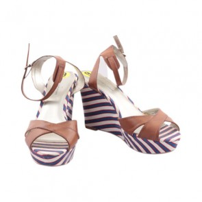 Tommy Hilfiger Multi Color Leather Wedge