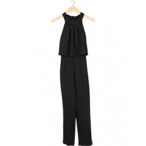 Black Halter Neck Jumpsuit