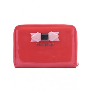 Ted Baker Orange Slim Bow Clutch