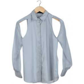Grey Cut Out Shirt