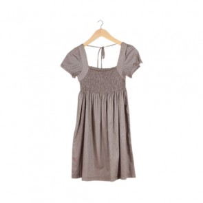 Taupe Baby Doll Mini Dress