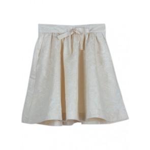 Cream Glitter  Skirt