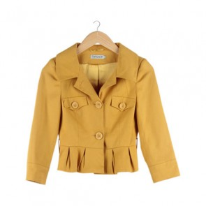 Yellow Single Breasted Blazer