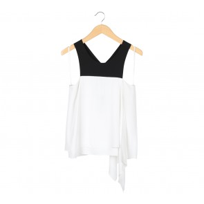 BCBG White And Black Sleeveless