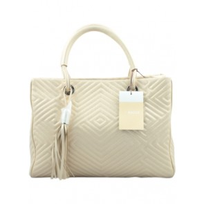 Bally Cream Textured Hand Bag