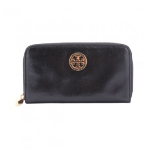 Tory Burch Black Reva Flat Wallet