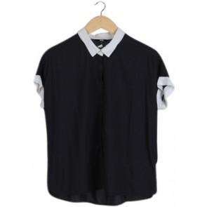 Navy White Hem Shirt
