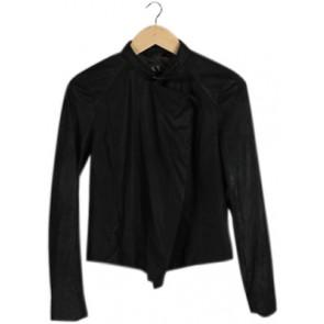 Black Plain Suede Jacket
