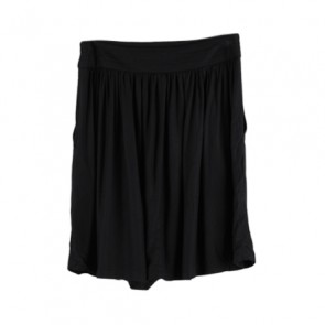 Black Flared Midi Skirt