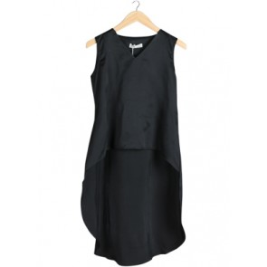 Zoey Longback Black Sleeveless Blouse