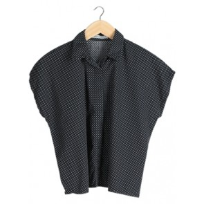 Black Polkadot Shirt