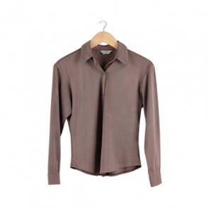 Brown Barrel Sleeve Shirt