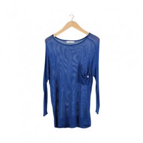 Blue Knit T-Shirt
