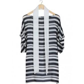 Black and White Stripes Blouse