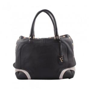 Furla Black and White Hand Bag