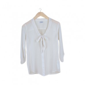 Broken White Ribbon Blouse