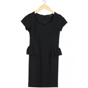 Black Peplum Mini Dress