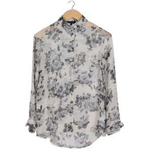 Cream Floral Shirt
