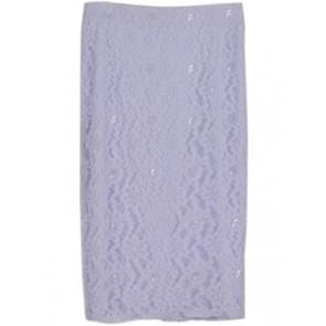 Puple Lace Midi Skirt