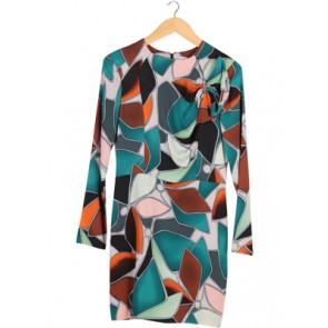 Multi Abstract Midi Dress