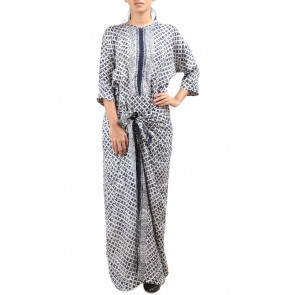 Black and White Batik Caftan