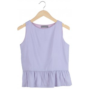 Purple Lavender Peplum Sleeveless Peplum Top