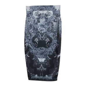 Needle & Thread Dark Blue And Grey Patterned Skirt
