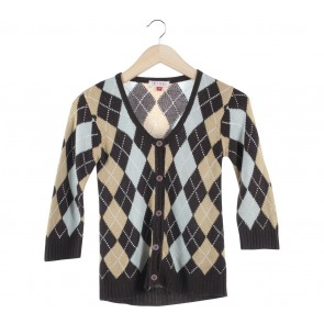 (X)SML Multi Colour Plaid Cardigan