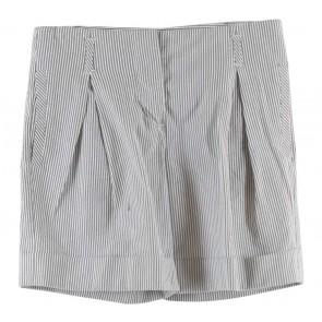 Mango Grey And White Striped Pants