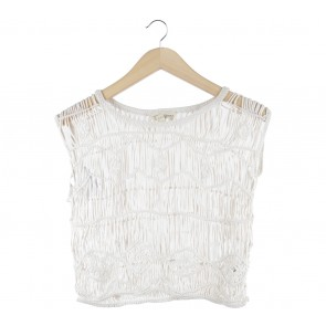 Ralph Lauren Off White Crochet Sleeveless