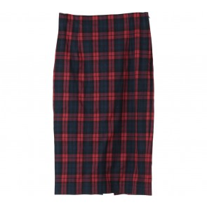 Zara Red And Blue Plaid Skirt