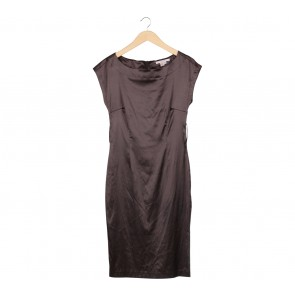 Zara Brown Midi Dress