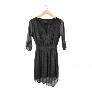 Enfocus Studio Black Glittery Mini Dress