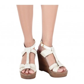 Aldo Cream T-Bar Wedges