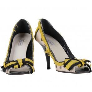 Alima Multi Colour Peep Toe Heels