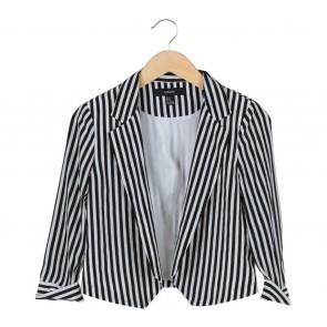Forever 21 Black And White Striped Blazer