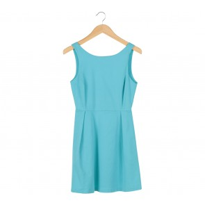 Zara Blue Sleeveless Mini Dress