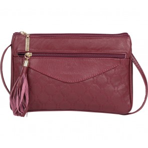 Laura Valle Maroon Sling Bag
