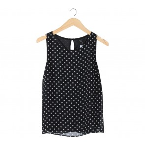 Forever 21 Black Polka Dot Sleeveless