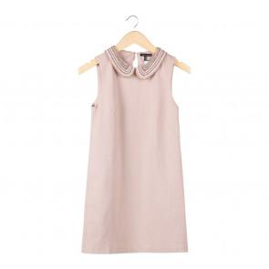 Massimo Dutti Cream Sequins Mini Dress